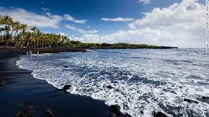 The Punaluu Beach Is Located Just South Of Park And A Black Sand Beachs Made Out Basalt Has This